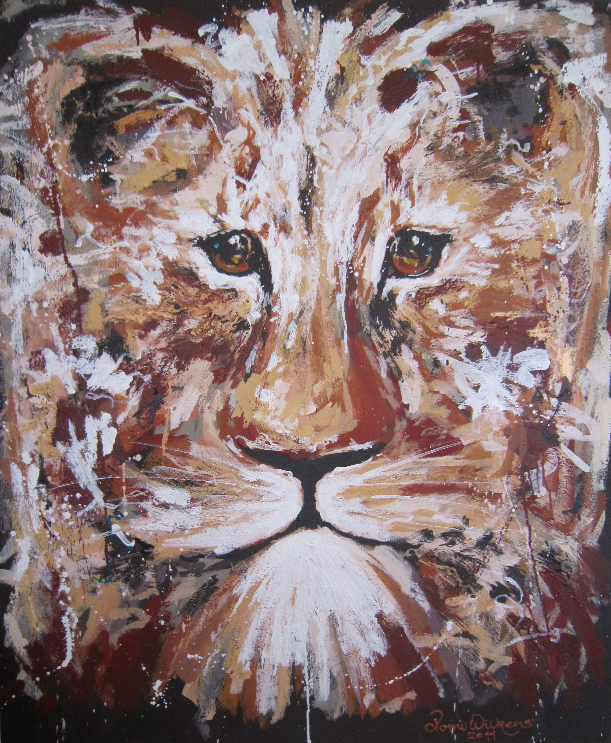 100x120cm-brown-lion